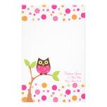 Helle rosa Baby-Eule Bedrucktes Büropapier