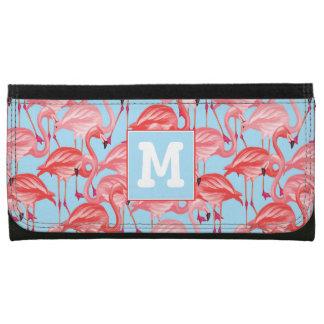 Helle rosa Flamingos auf Blau | addieren Ihre