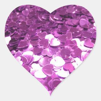 Helle rosa Herzen Herz-Aufkleber