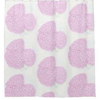 Helle rosa Hydrangea-Duschvorhänge Duschvorhang