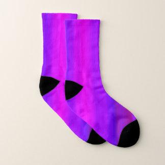 Helle rosa lila pinkfarbene Streifen-Muster-Socken Socken
