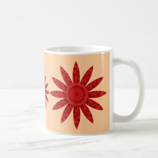 Helle rote Blume Kaffeetasse