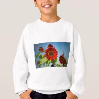 Helle rote Blumen im Sun Sweatshirt