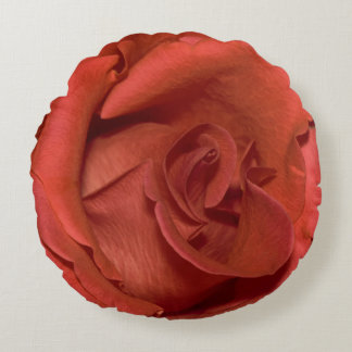 helle Rote Rose Rundes Kissen