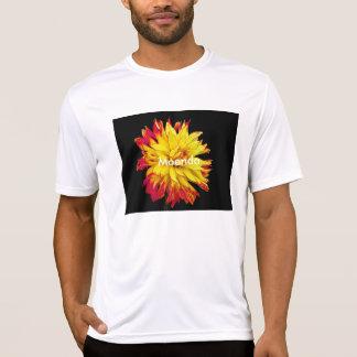 Helle rote und gelbe Blume T-Shirt