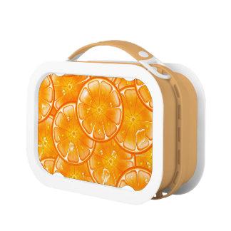 Helle saftige Orangen Brotdose