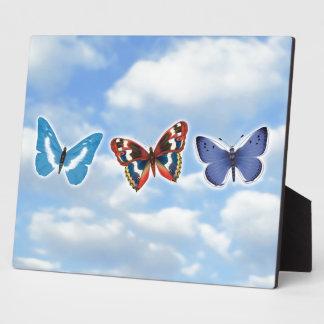 Helle Schmetterlinge Fotoplatte
