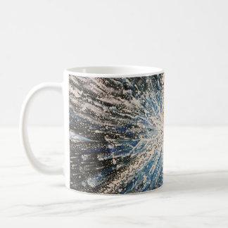 Helle schwarze Stern-Tasse Kaffeetasse