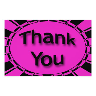 Helle Schwarze und rosa danken Ihnen Custom Flyer