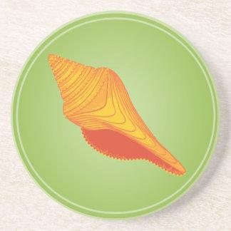 Helle Seashells - Drehung Getränkeuntersetzer