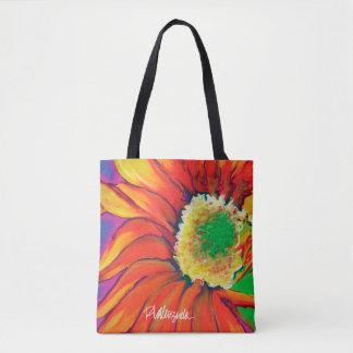 Helle Sonnenblume-BlumenTasche Tasche
