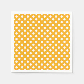 Helle Sonnenblume-gelbe u. weiße Tupfen Papierserviette