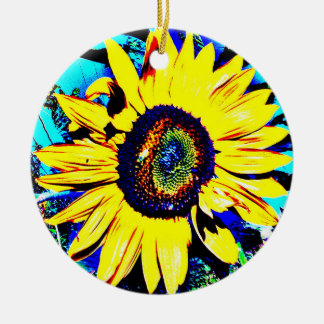 Helle sonnige Sonnenblume-Keramik-Verzierung Keramik Ornament