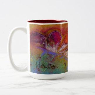 Helle stachelige Birnen-Tasse Zweifarbige Tasse