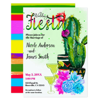 Helle Streifen Kaktus u. Succulents Karte