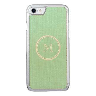 Helle tadellose grüne obere Grenze gefärbt Carved iPhone 8/7 Hülle