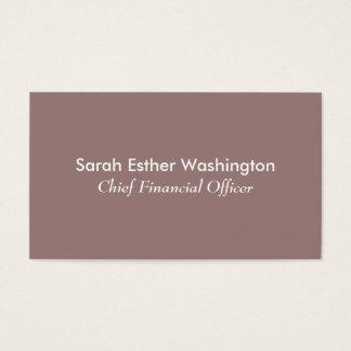 Helle Taupe-Farbe Visitenkarte