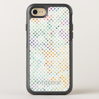 Helle tropische Aquarell-Tupfen OtterBox Symmetry iPhone 8/7 Hülle