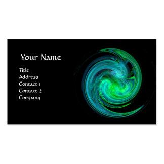 HELLE TURBULENZ, vibrierendes schwarzes grünes Visitenkartenvorlage