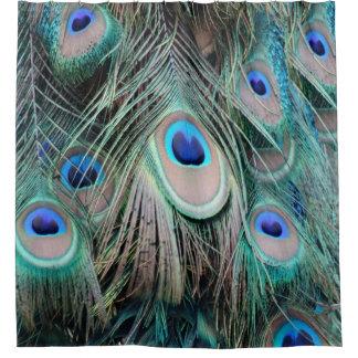 Helle und glänzende Pfau-Augen Duschvorhang