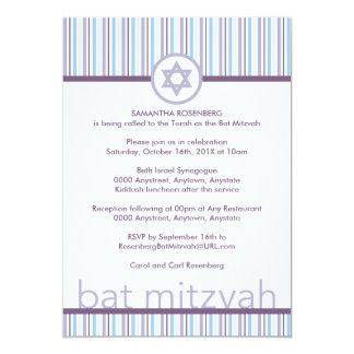 Helle und helle Schläger Mitzvah Einladung
