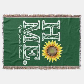 Helle und sonnige Zuhause-Sonnenblume Housewarmer Decke