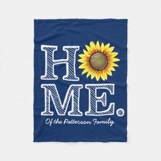 Helle und sonnige Zuhause-Sonnenblume Housewarmer Fleecedecke