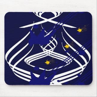 Helle Vektoren auf blauem Mitternachtsmousepad