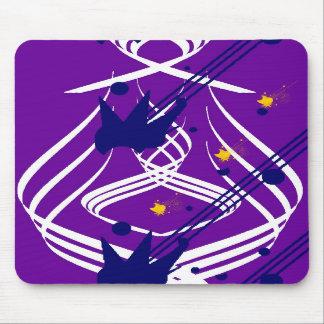Helle Vektoren auf violettem Mousepad