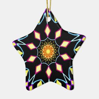 Helle Verzierung des Sternes Keramik Ornament