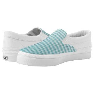 Heller Aqua Ombre Gingham Slip-On Sneaker