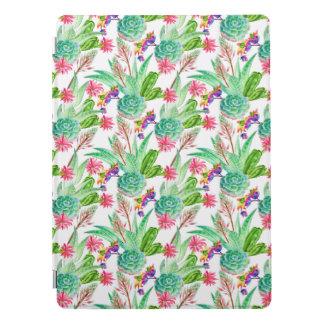 Heller Aquarell-Kaktus u. saftiges Muster iPad Pro Hülle