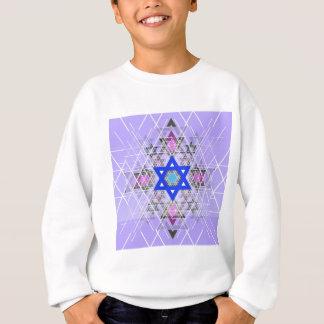Heller blauer Stern Sweatshirt