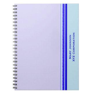 Heller blauer Streifen auf beruflichem Spiral Notizblock