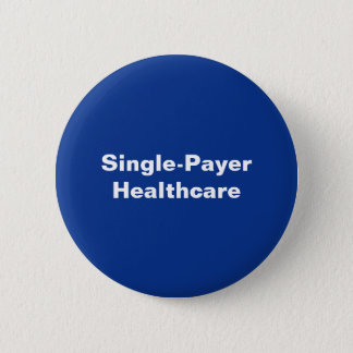 Heller blauer weißer Single-Zahler Knopf Runder Button 5,1 Cm