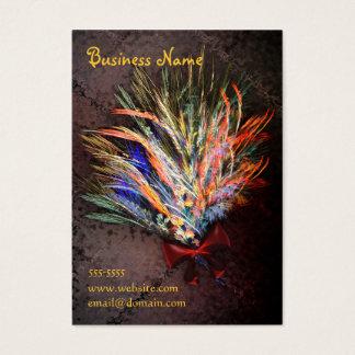 Heller Blumenstrauß Visitenkarte