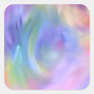 Heller bunter Regenbogen-abstraktes Muster Quadratischer Aufkleber