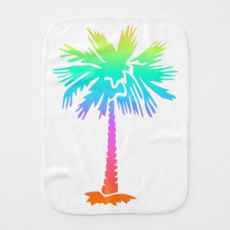 heller bunter Spaß des Neonsommers der palme Baby Spucktuch
