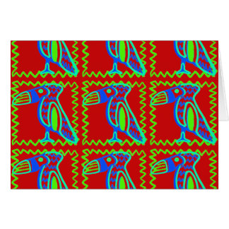 Heller bunter Spaß Toucan tropisches Vogel-Muster Karte