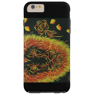 heller farbiger Löwe mit einer Rose Tough iPhone 6 Plus Hülle
