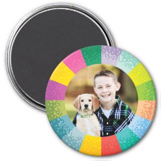 Heller Farbrad-runder Foto-Magnet Runder Magnet 7,6 Cm