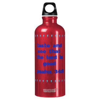 Heller Freiheits-Versgeschmack und sehen Aluminiumwasserflasche