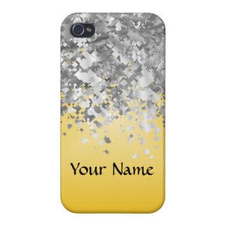 Heller Gelb- und Imitat-Glitter iPhone 4 Schutzhülle