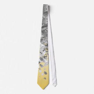 Heller Gelb- und Imitat-Glitter Krawatte