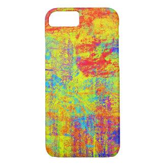 Heller gelber abstrakter Kunst iPhone 7 Kasten iPhone 7 Hülle