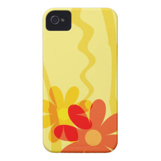 Heller gelber Blumen-BlackBerry-Kasten iPhone 4 Etuis