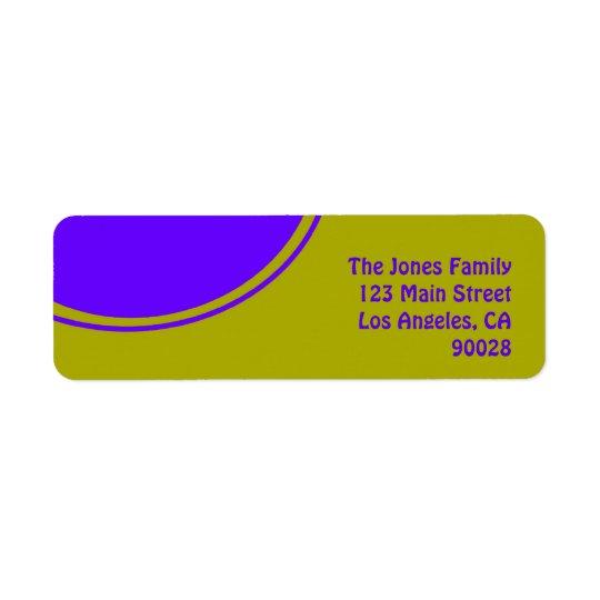 Heller gelber lila Modkreis Rücksendeetikett