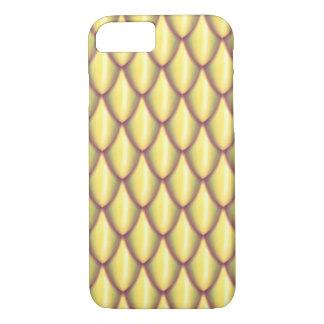 Heller Golddrache-Skala-Telefon-Kasten iPhone 8/7 Hülle