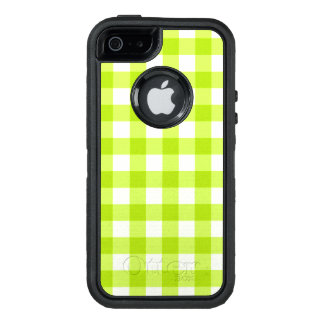Heller grüner Apple-Neongingham OtterBox iPhone 5/5s/SE Hülle
