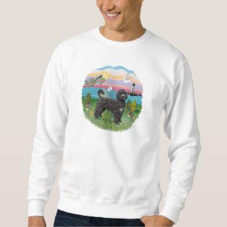 Heller Haus-schwarzer Portie PWD stehend Sweatshirt